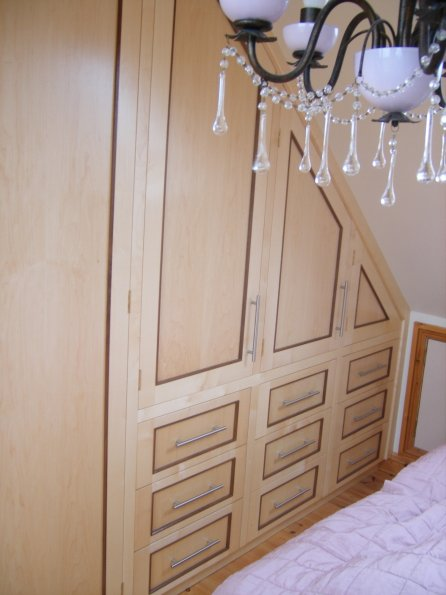 Sycamore and Walnut Wardrobes